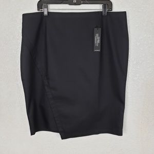Lane Bryant pencil skirt black stretch career 18